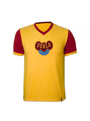 Copa Dukla Prague Away 1960's Short Sleeve Retro Shirt