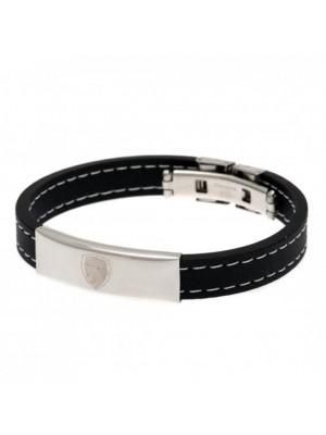 Arsenal FC Stitched Silicone Bracelet