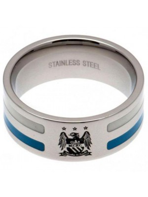 Manchester City FC Colour Stripe Ring Medium EC