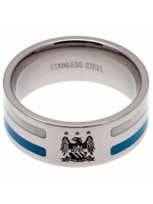 Manchester City FC Colour Stripe Ring Small EC