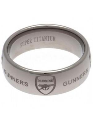 Arsenal FC Super Titanium Ring Small