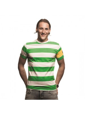 Celtic Captain T-Shirt Green - White 100% cotton