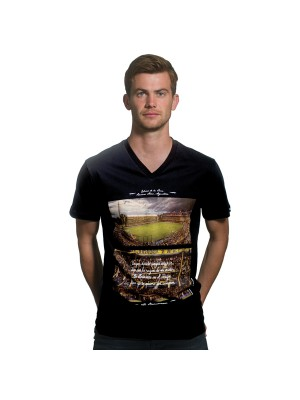 La Bombonera V-Neck Black T-Shirt