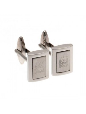 Manchester City FC Stainless Steel Framed Cufflinks EC