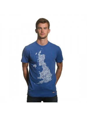 UK Grounds T-Shirt // Blue Mêlée 100% cotton