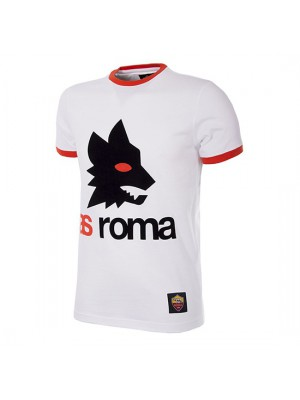 AS Roma Retro Logo T-Shirt | White