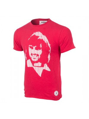 George Best Repeat Logo T-Shirt Red 100% cotton