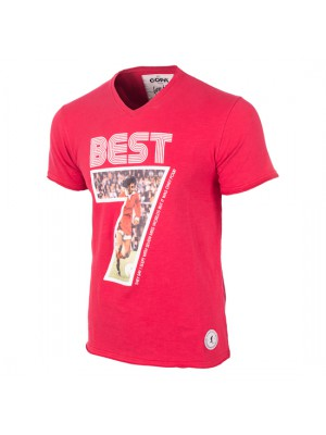 George Best Miss World V-Neck T-Shirt Red 100% cotton