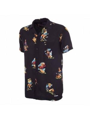 Calcio Donna Camp Collar Shirt Black