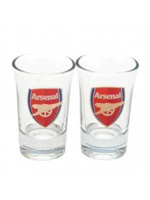 Arsenal Fc 2 Pack Shot Glass Set