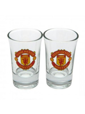 Manchester United FC 2 Pack Shot Glass Set