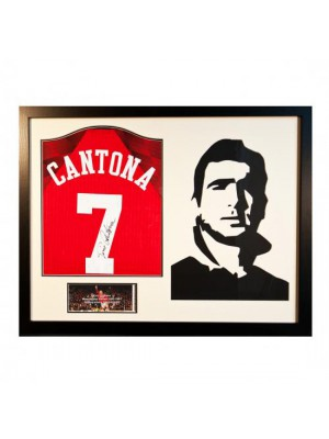 Manchester United FC Cantona Signed Shirt Silhouette