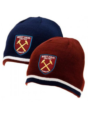 West Ham United FC Reversible Knitted Hat