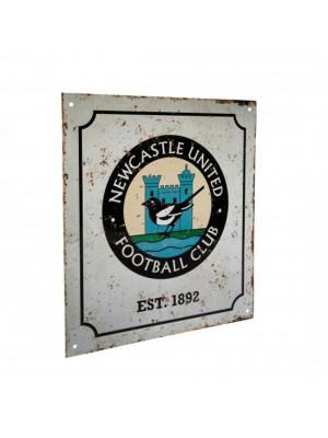 Newcastle United FC Retro Logo Sign