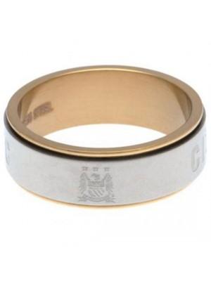 Manchester City FC Bi Colour Spinner Ring Small EC