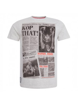 Liverpool Mens Ecru Marl Kop That Tee