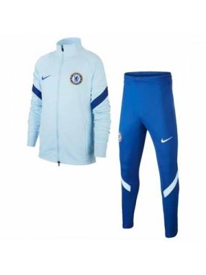Chelsea Kids Light Blue Strike Tracksuit 2020/21