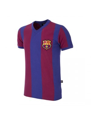 FC Barcelona 1955/56 Short Sleeve Retro Football Shirt