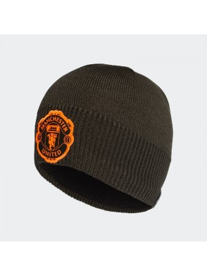 Man Utd knit hat - black and orange colors