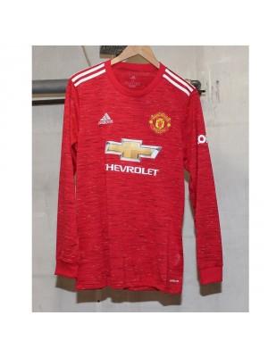 Man Utd Long Sleeve 20/21 home jersey