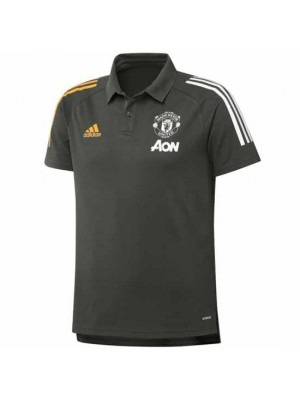 Manchester United Green Training Polo Shirt 2020/21