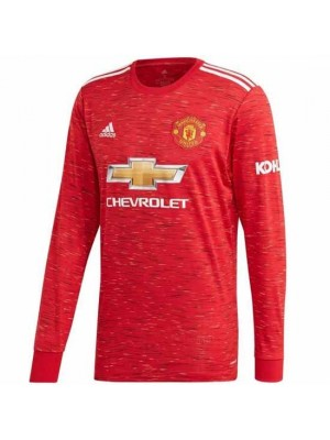 Manchester United Long Sleeve Home Shirt 2020/21
