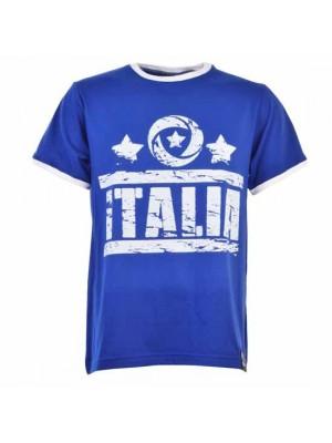 Italia T-Shirt Royal White Ringer