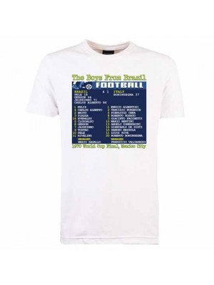 1970 World Cup Final (Brazil) Retrotext T-Shirt - White