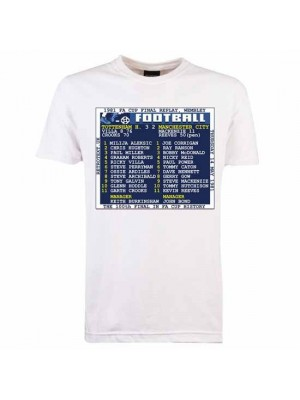 Tottenham Hotspur 1981 FA Cup Final Replay Retrotext T-Shirt