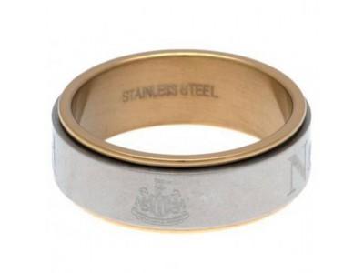 Newcastle United FC Bi Colour Spinner Ring XX-Large