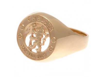 Chelsea FC 9ct Gold Crest Ring Medium