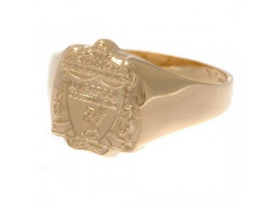 Liverpool FC 9ct Gold Crest Ring Large