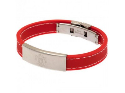 Manchester United FC Stitched Silicone Bracelet RD