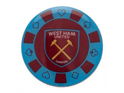 West Ham United FC Poker Chip Badge