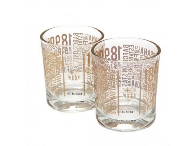 FC Barcelona 2pk Whiskey Glass Set TX