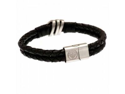 Manchester City FC Leather Bracelet