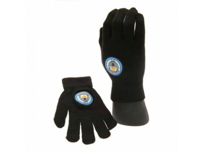 Manchester City FC Knitted Gloves Junior
