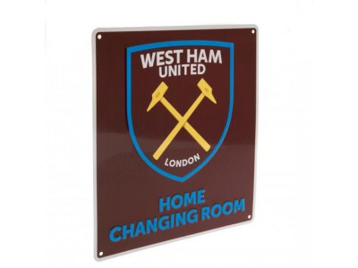 West Ham United FC Home Changing Room Sign