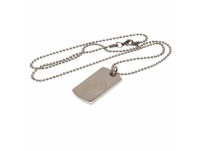Manchester City FC Engraved Crest Dog Tag & Chain