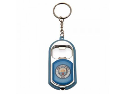 Manchester City FC Key Ring Torch Bottle Opener