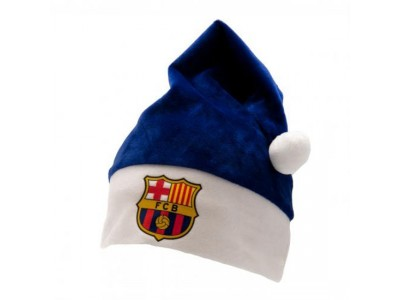 FC Barcelona Supersoft Santa Hat