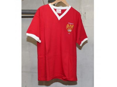 Manchester United 1958 FA Cup Retro Shirt - M. BUSBY 58