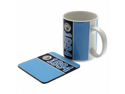 Manchester City FC Mug & Coaster Set