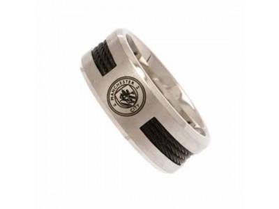Manchester City FC Black Inlay Ring Medium