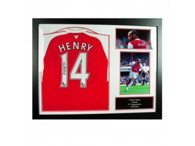 Arsenal FC Henry Signed Shirt (Framed)