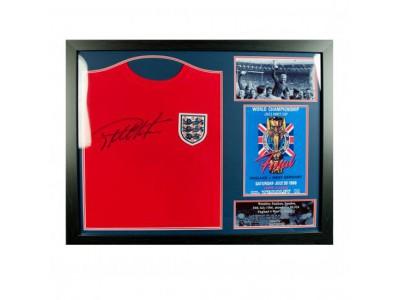 England FA Sir Geoff Hurst Signed Shirt (Framed)