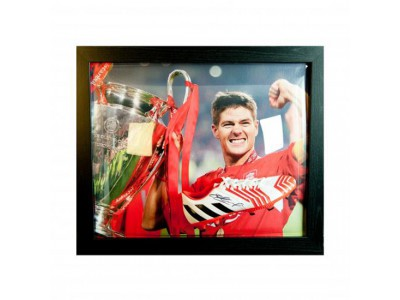 Liverpool FC Gerrard Signed Boot (Framed)