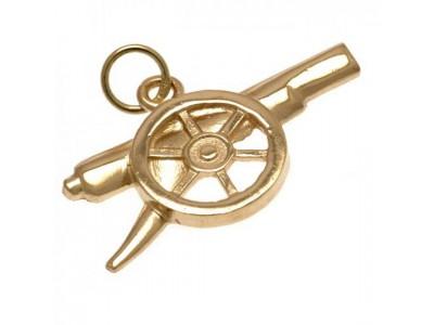 Arsenal FC 9ct Gold Pendant Cannon