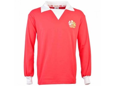 Manchester United 1970s Long Sleeve Retro Football Shirt