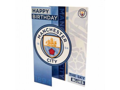 Manchester City FC Birthday Card